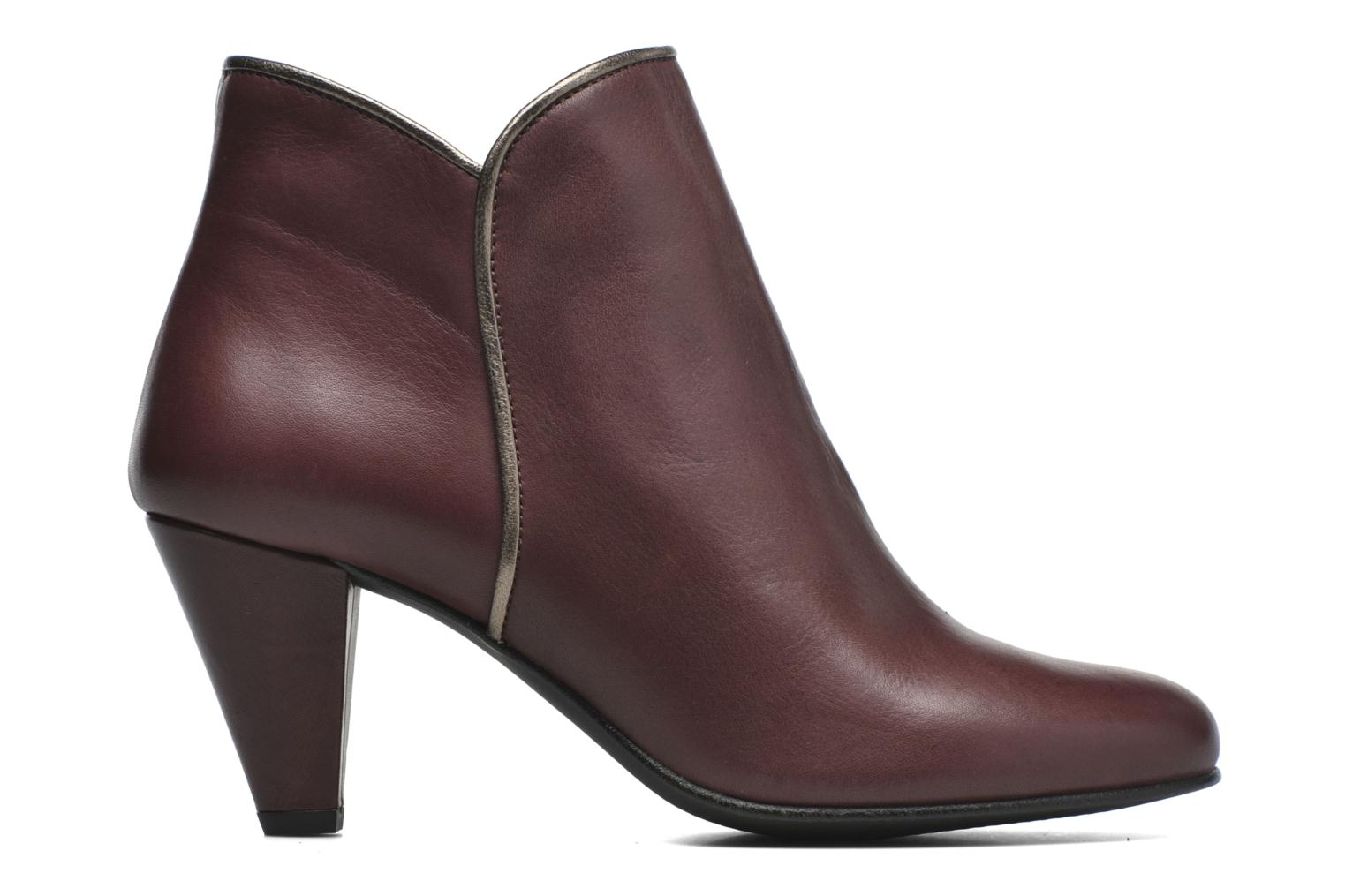 Ankle boots Georgia Rose Lagopède Burgundy back view