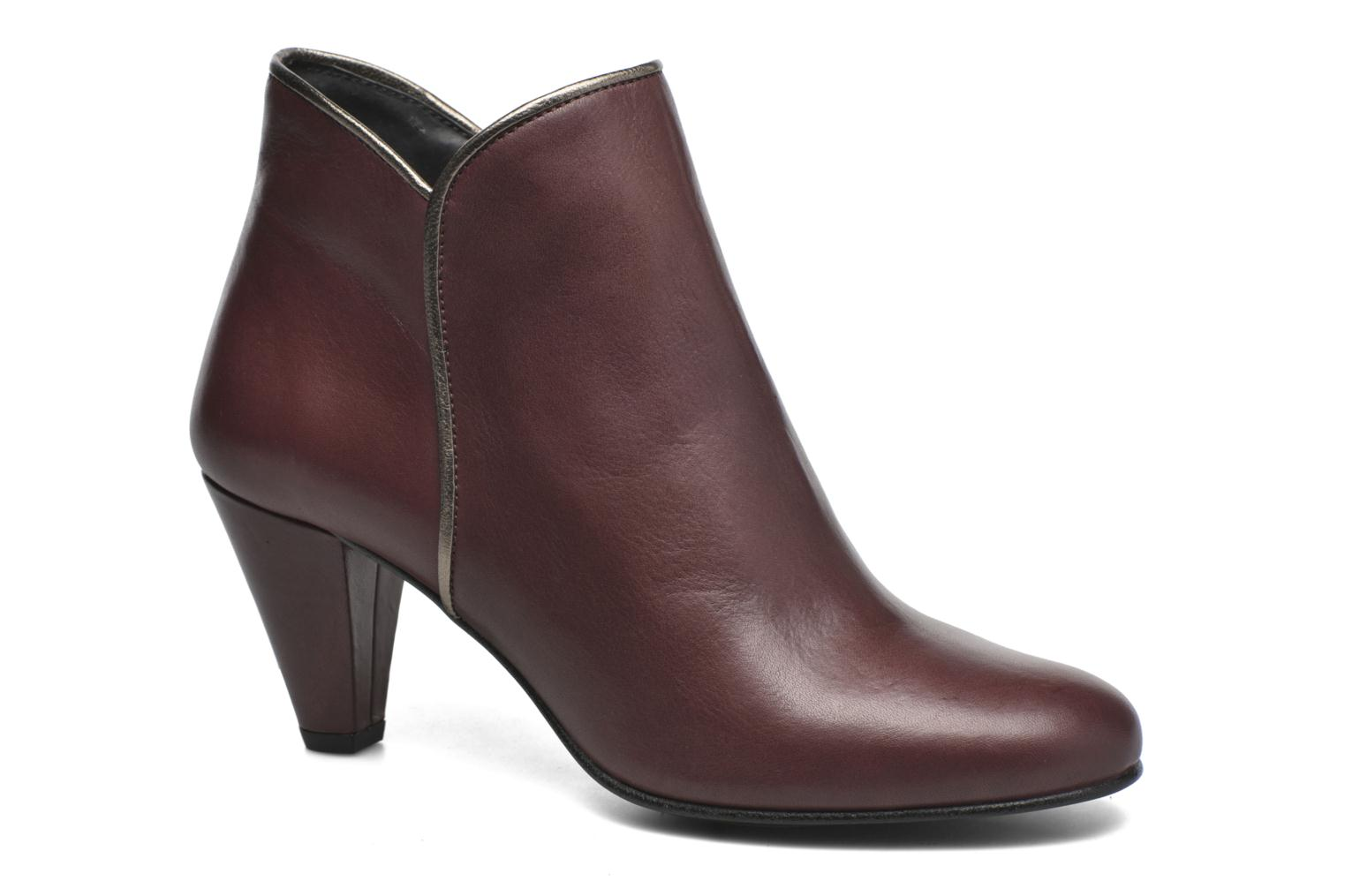 Ankle boots Georgia Rose Lagopède Burgundy detailed view/ Pair view