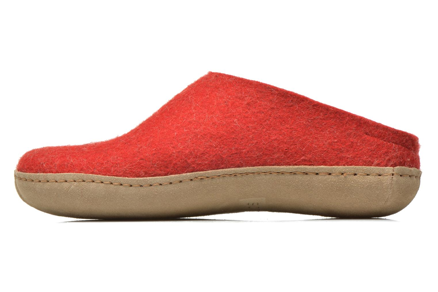 Chaussons Glerups Piras W Rouge vue face