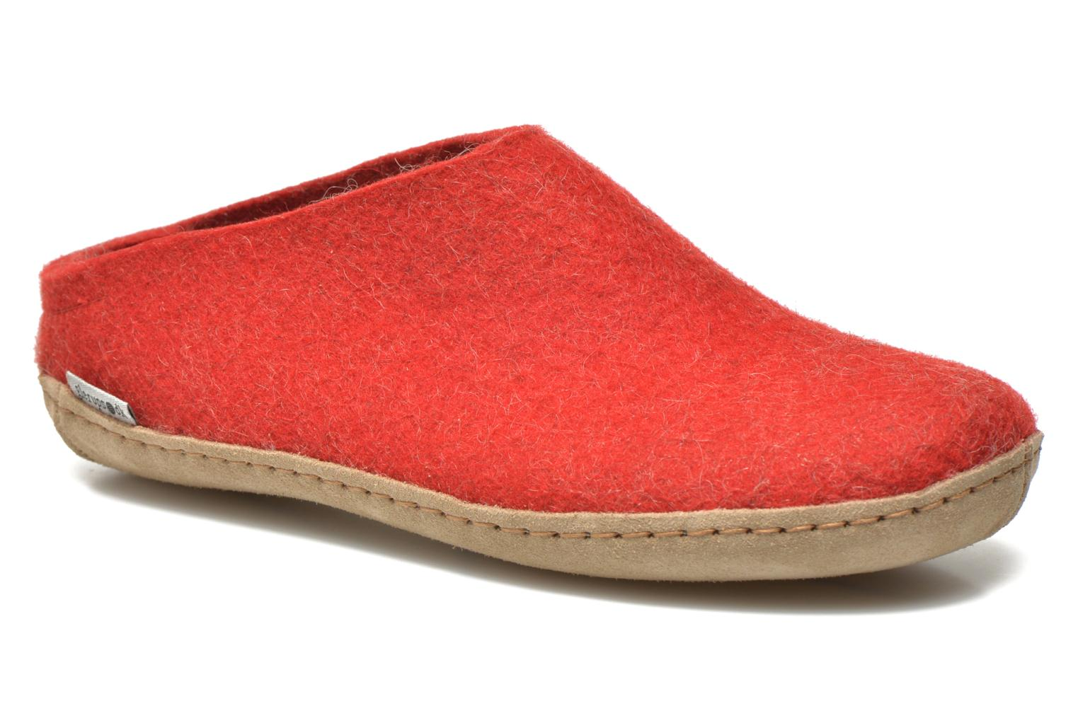 Slippers Glerups Piras W Red detailed view/ Pair view