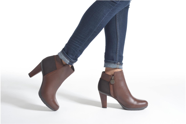 Stiefeletten & Boots Geox D INSPIRAT.ST. D34G9A braun ansicht von unten / tasche getragen