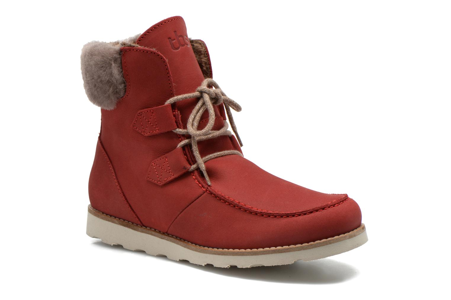 Ankle boots TBS Ariana Red detailed view/ Pair view