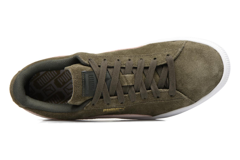 Sneaker Puma Suede Classic Wn's grün ansicht von links