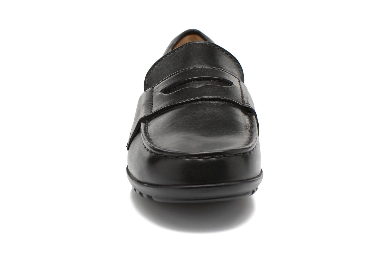 Mocassins Geox J Fast F J34G5F Noir vue portées chaussures