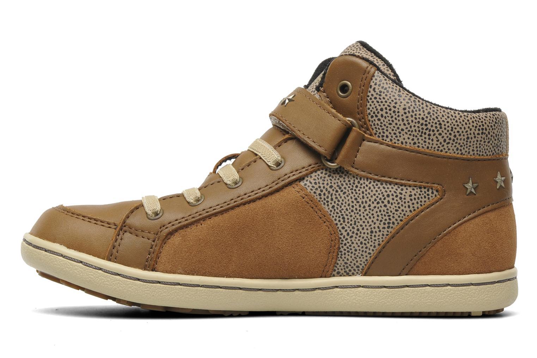 Sneakers Geox J PRISCA A Bruin voorkant