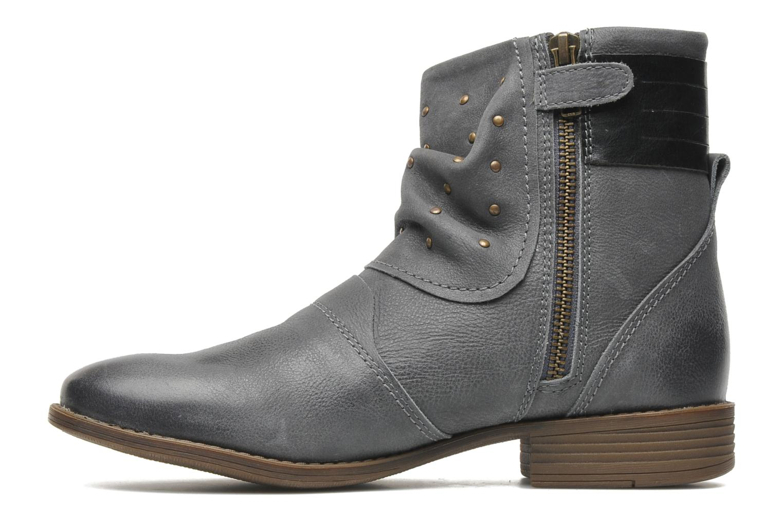 Bottines et boots Kickers ROLLING Gris vue face