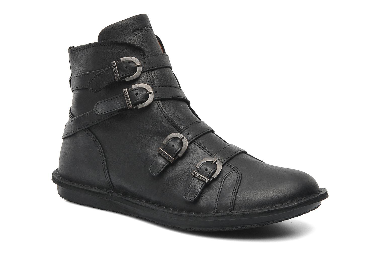 Boots en enkellaarsjes Kickers WAXING Zwart detail
