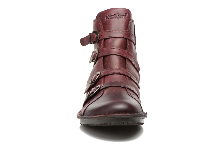 Boots en enkellaarsjes Kickers WAXING Bordeaux model