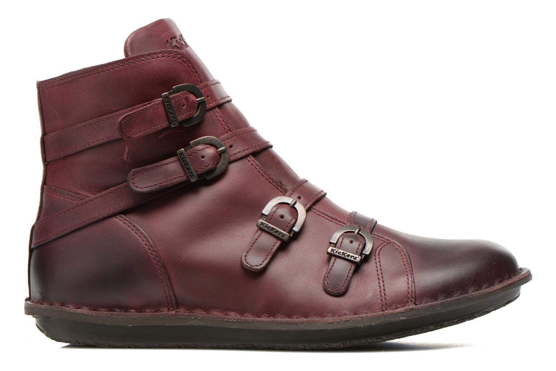 Boots en enkellaarsjes Kickers WAXING Bordeaux achterkant