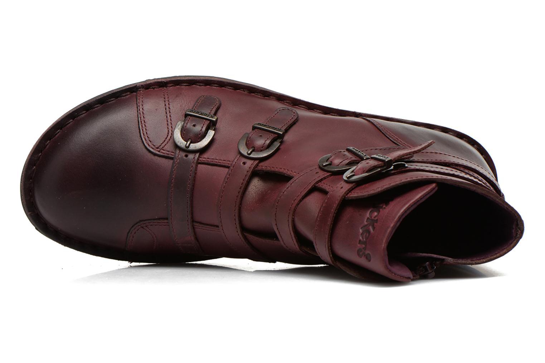 Boots en enkellaarsjes Kickers WAXING Bordeaux links