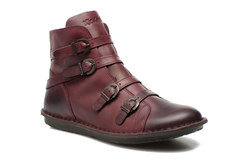 Boots en enkellaarsjes Kickers WAXING Bordeaux detail
