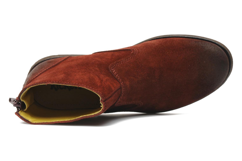 Boots en enkellaarsjes Kickers ROXANNAE Bordeaux links