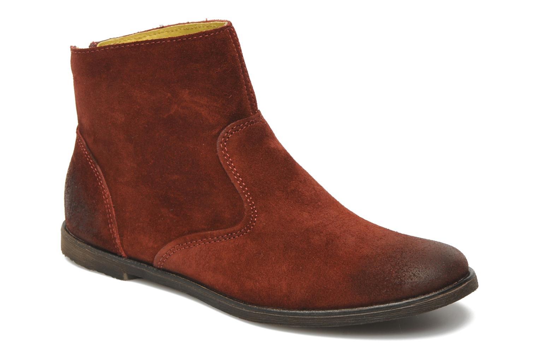 Boots en enkellaarsjes Kickers ROXANNAE Bordeaux detail