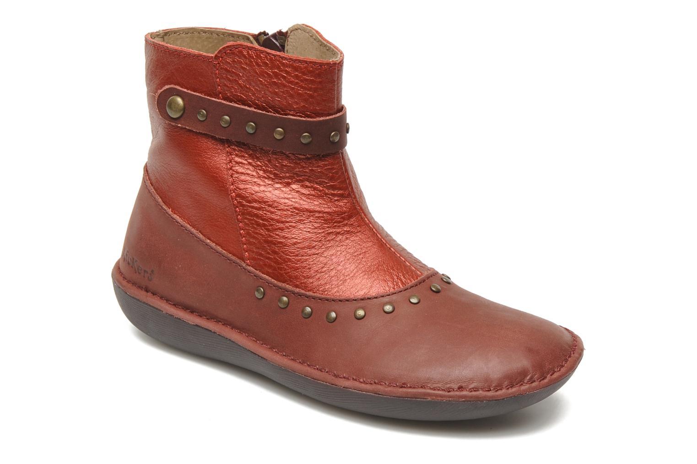 Ankelstøvler Kickers EXTATIK Bordeaux detaljeret billede af skoene