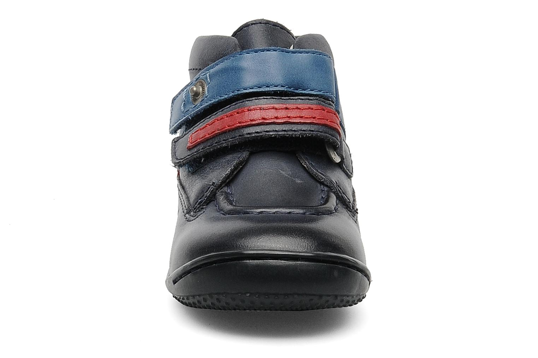 Chaussures à scratch Kickers GERMAN Bleu vue portées chaussures