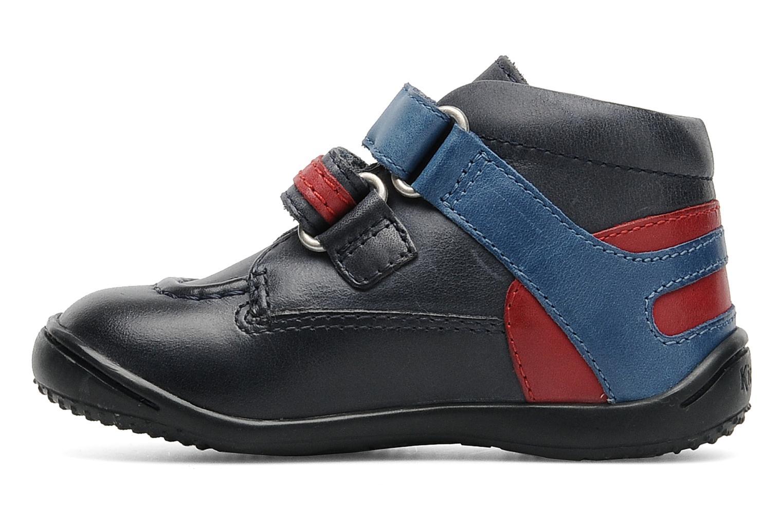 Schoenen met klitteband Kickers GERMAN Blauw voorkant