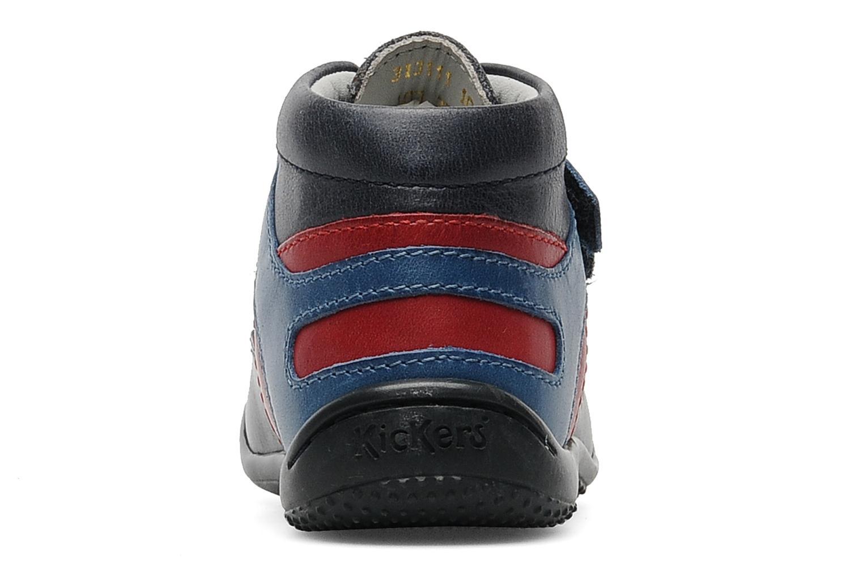 Chaussures à scratch Kickers GERMAN Bleu vue droite