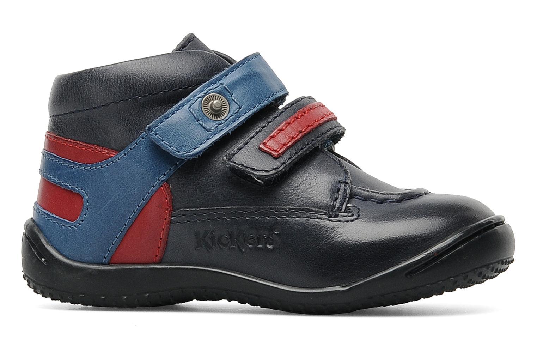 Schoenen met klitteband Kickers GERMAN Blauw achterkant