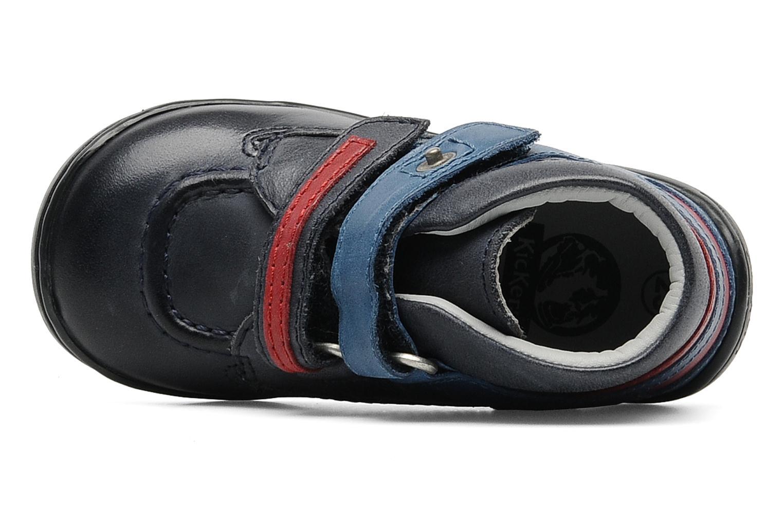 Chaussures à scratch Kickers GERMAN Bleu vue gauche