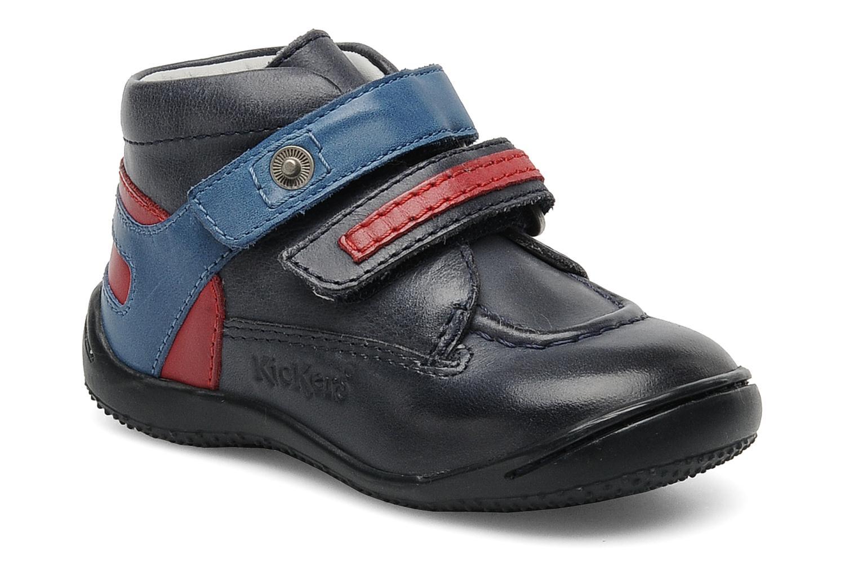 Chaussures à scratch Kickers GERMAN Bleu vue détail/paire