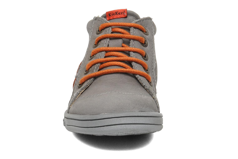 Bottines et boots Kickers Tatoo Gris vue portées chaussures