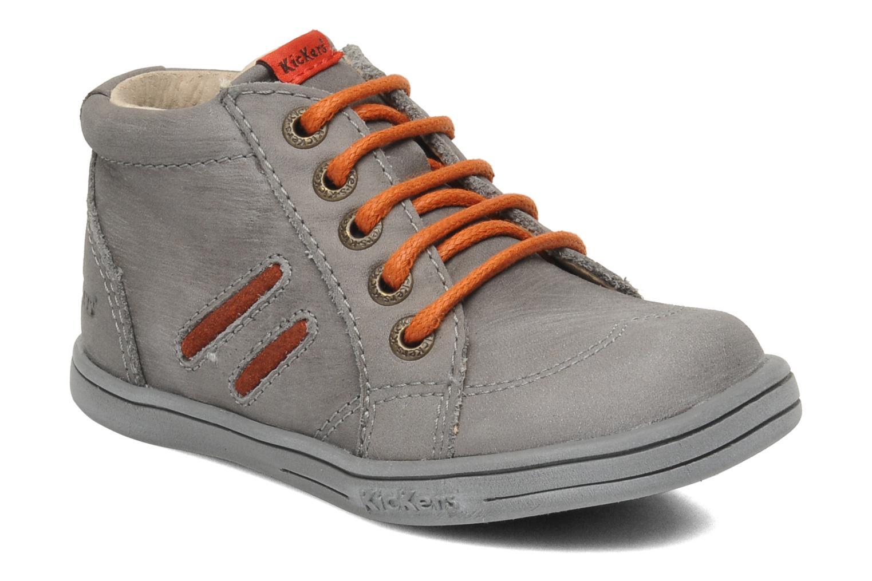 Bottines et boots Kickers Tatoo Gris vue détail/paire