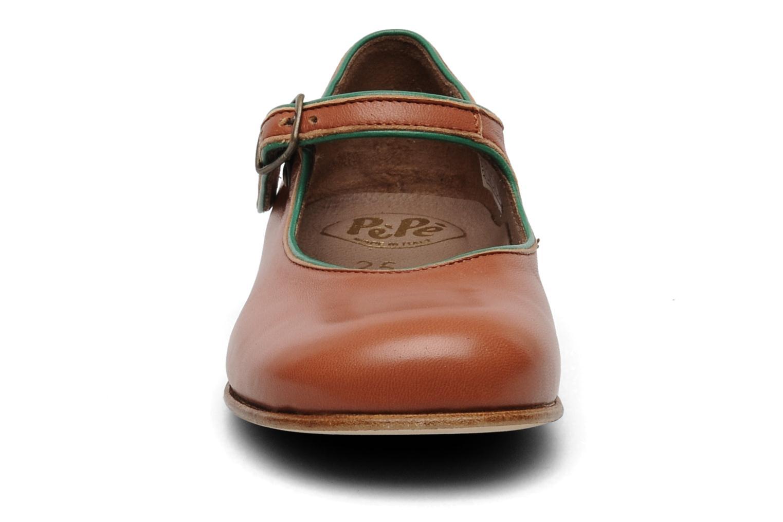 Ballerines PèPè 1216/P Marron vue portées chaussures