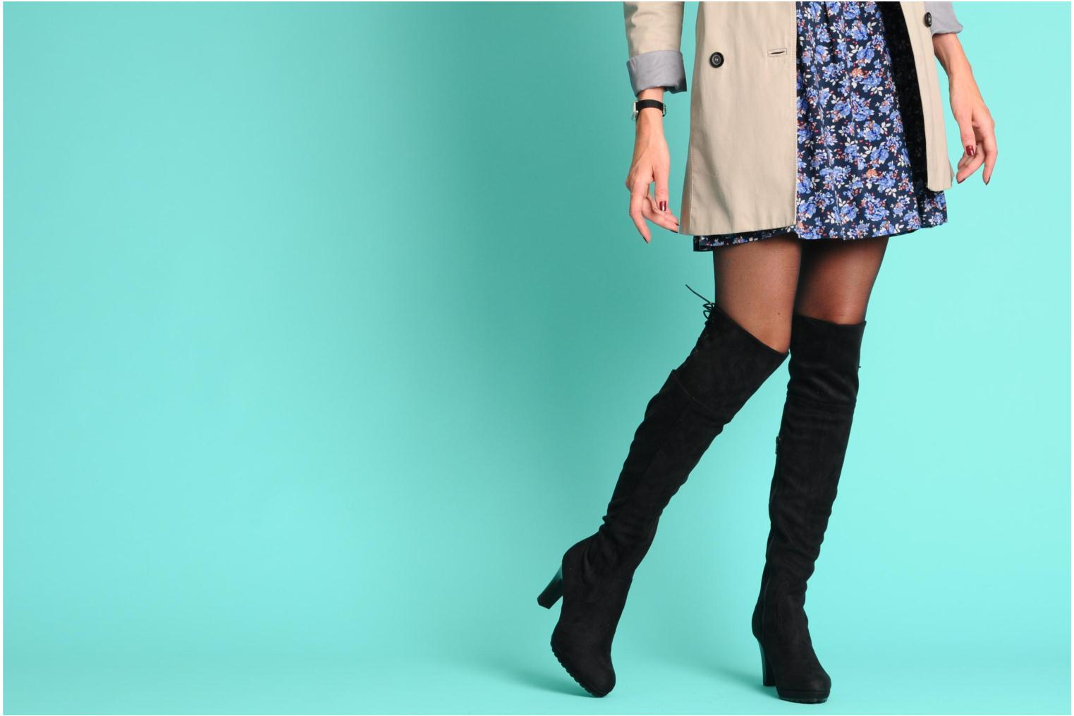 Boots & wellies Georgia Rose Kristolyn stretch Black view from underneath / model view
