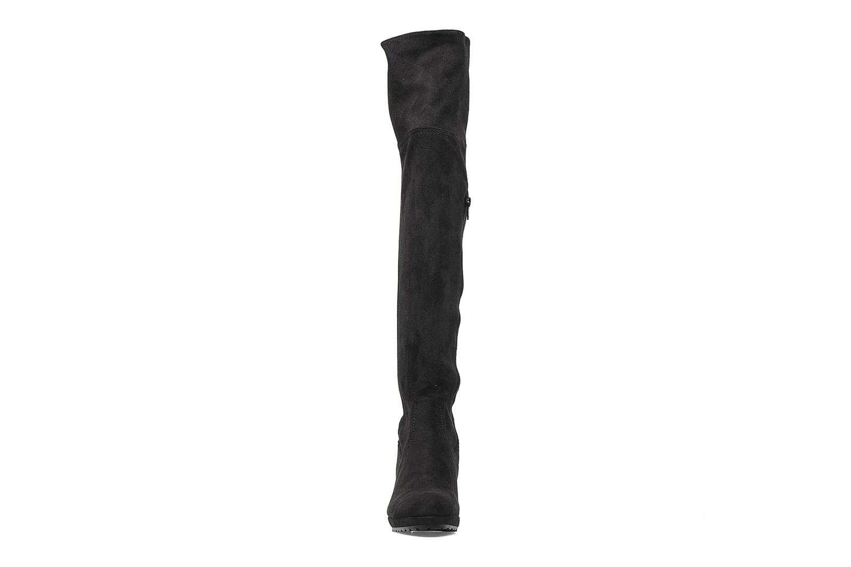 Bottes Georgia Rose Kristolyn stretch Noir vue portées chaussures