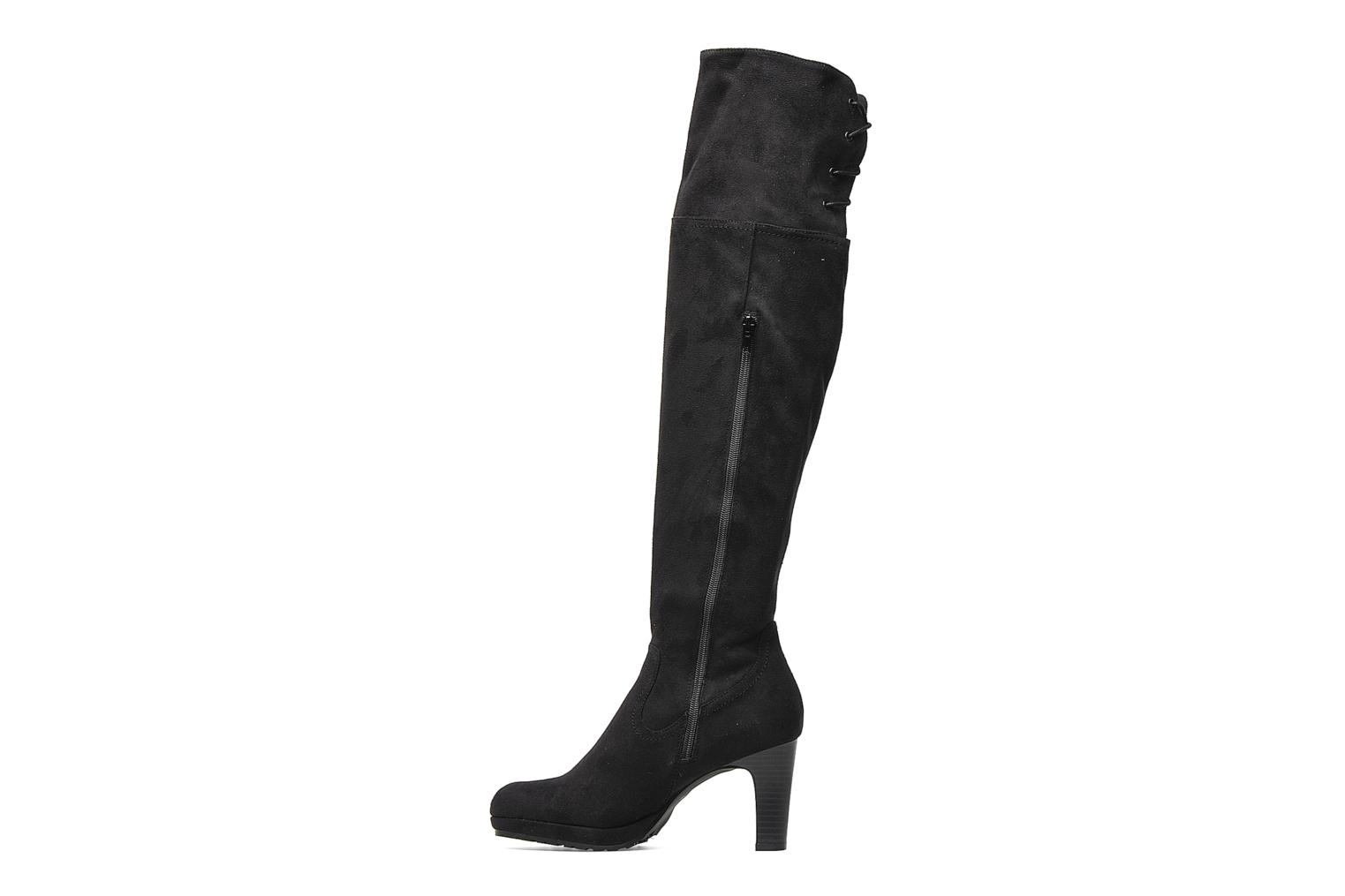 Bottes Georgia Rose Kristolyn stretch Noir vue face