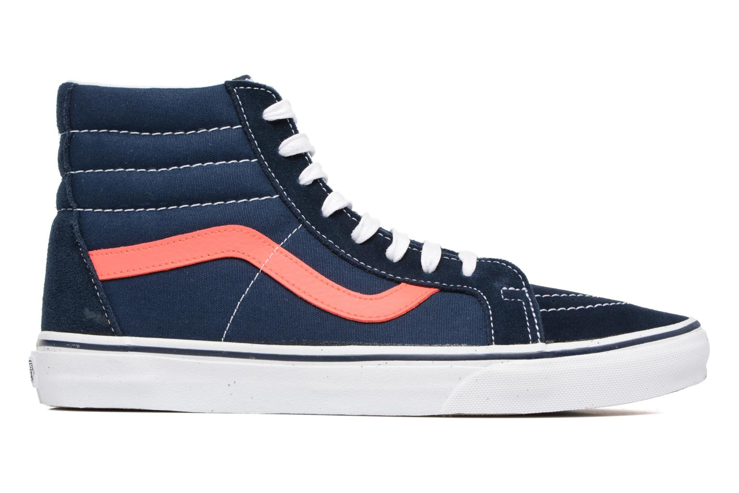 Sk8-Hi Reissue (Neon Leather) Dress Blues/Neon Red