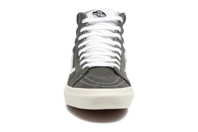 Sneaker Vans Sk8-Hi Reissue grau schuhe getragen