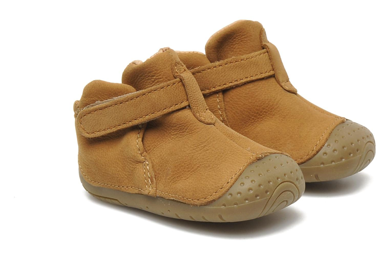 Chaussures à scratch Babybotte ZAK Marron vue 3/4
