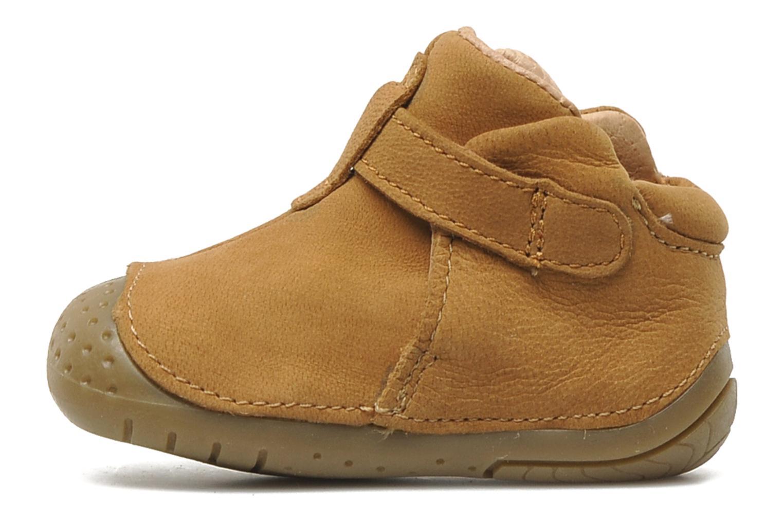 Chaussures à scratch Babybotte ZAK Marron vue face