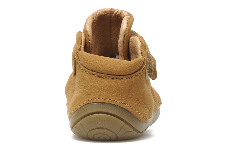 Chaussures à scratch Babybotte ZAK Marron vue droite