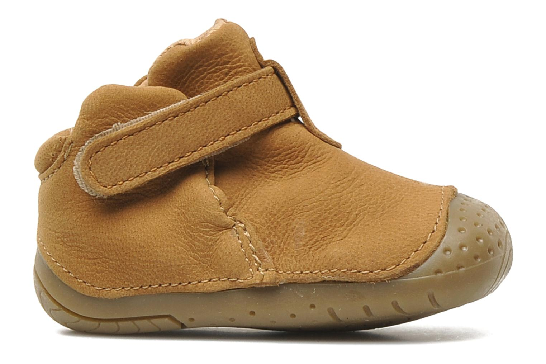 Chaussures à scratch Babybotte ZAK Marron vue derrière