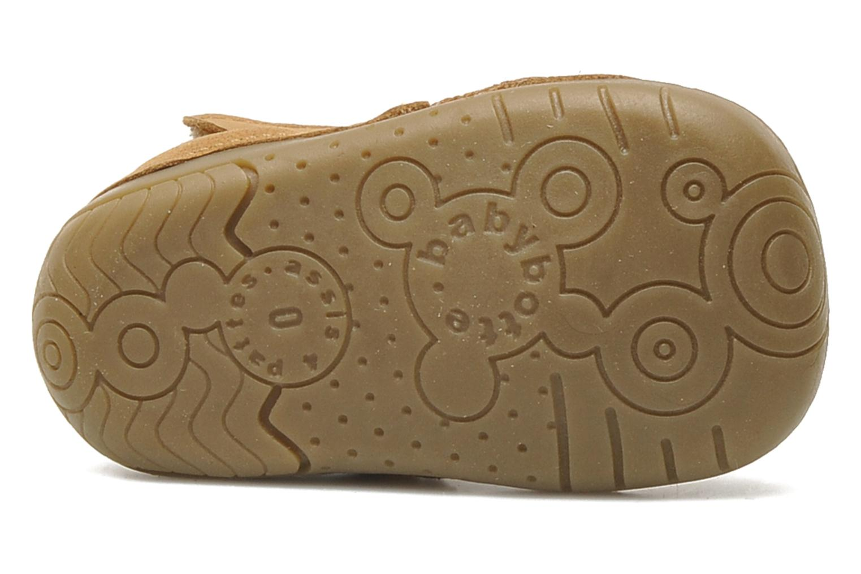 Chaussures à scratch Babybotte ZAK Marron vue haut