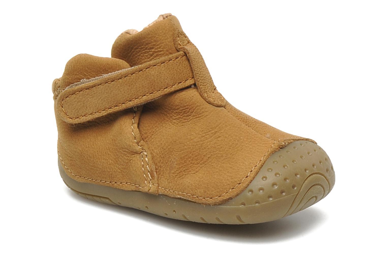 Chaussures à scratch Babybotte ZAK Marron vue détail/paire