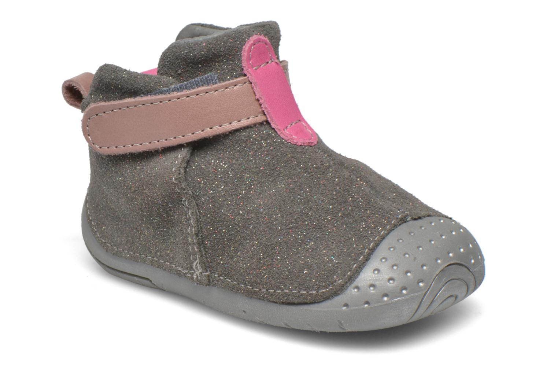 Chaussures à scratch Babybotte ZAK Gris vue détail/paire