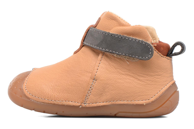 Chaussures à scratch Babybotte ZAK Jaune vue face