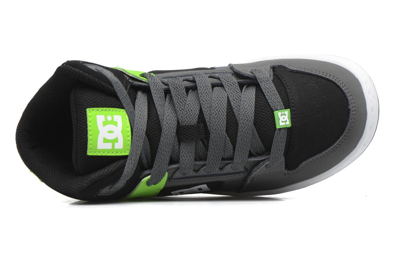 Deportivas DC Shoes REBOUND B Verde vista lateral izquierda