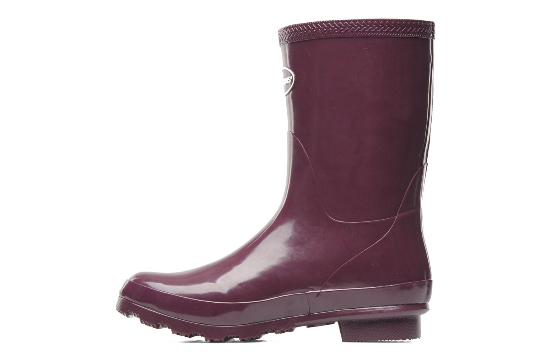 Helios Mid Rain Boots Aubergine
