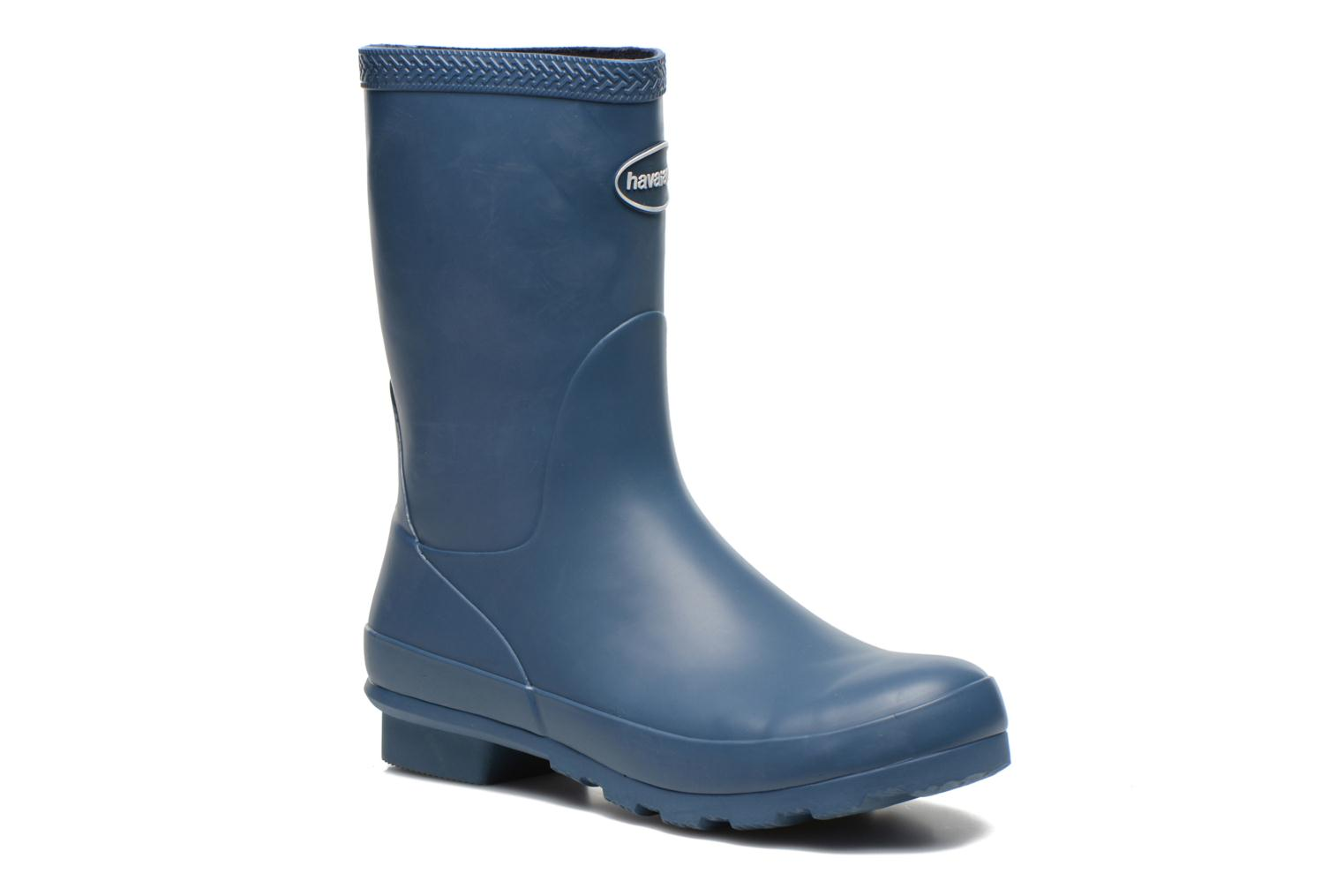 Ankle boots Havaianas Helios Mid Rain Boots Blue detailed view/ Pair view