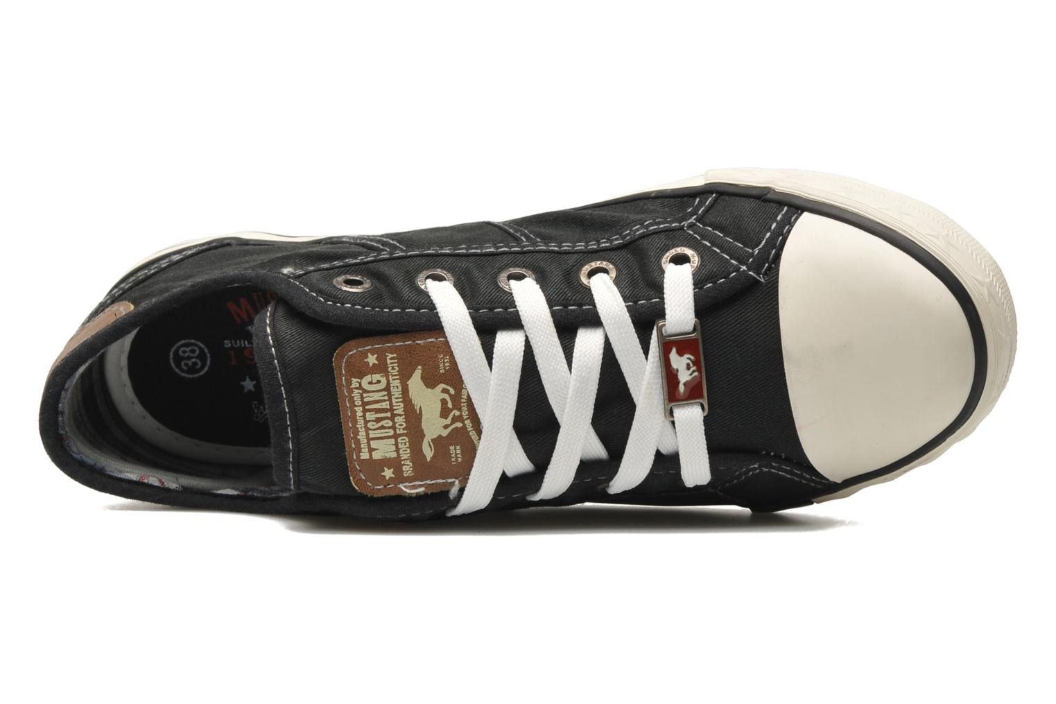 Trainers Mustang shoes Pitaya Black view from the left