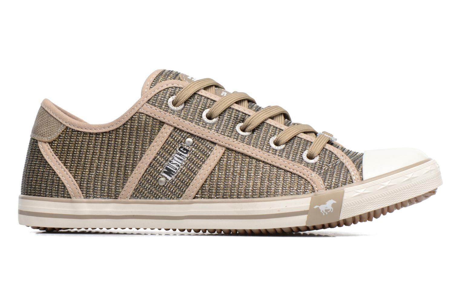 Trainers Mustang shoes Pitaya Bronze and Gold back view