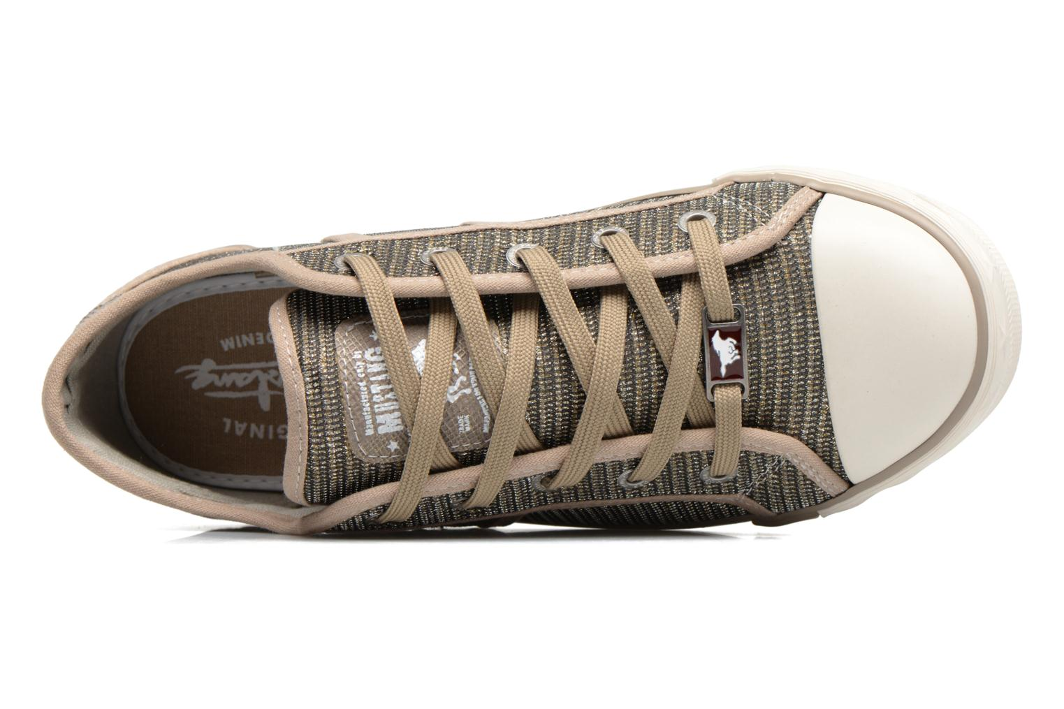 Trainers Mustang shoes Pitaya Bronze and Gold view from the left