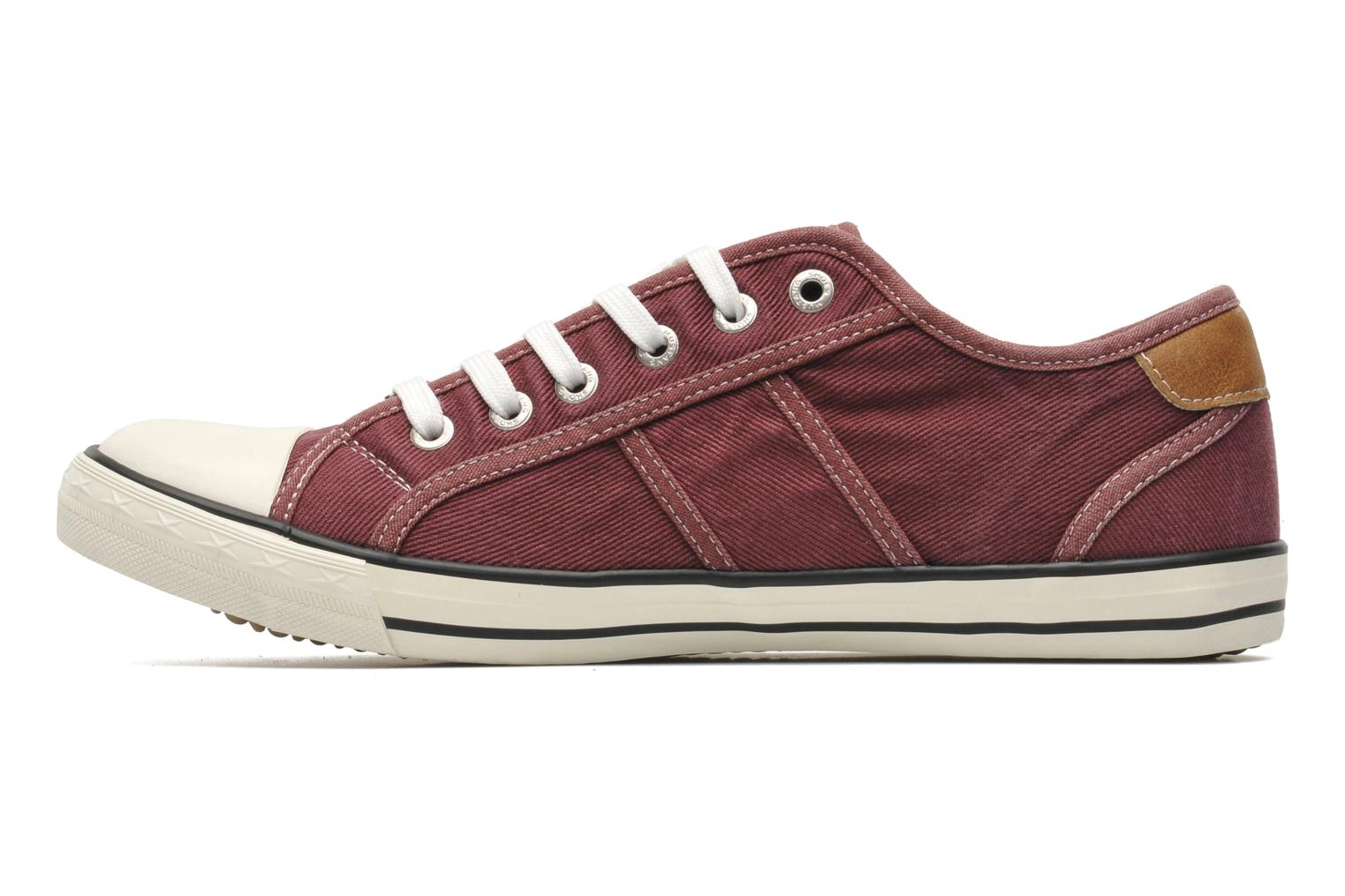 Trainers Mustang shoes Tista Burgundy front view