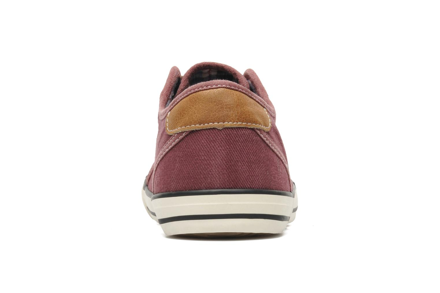 Trainers Mustang shoes Tista Burgundy view from the right