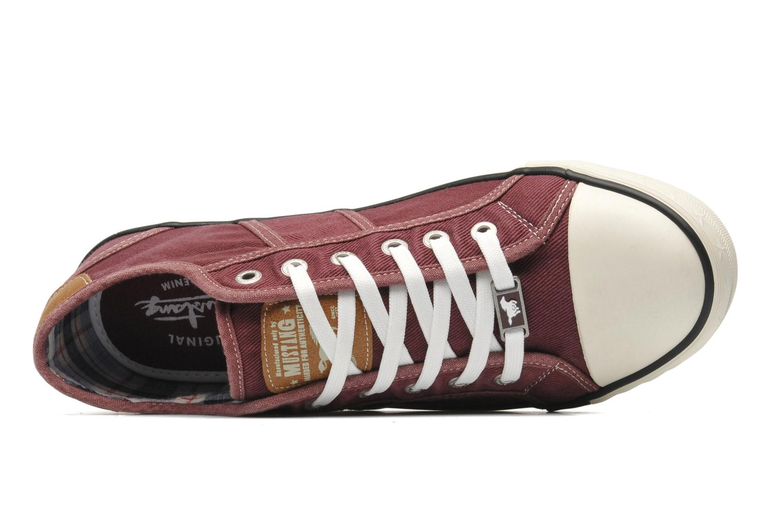 Trainers Mustang shoes Tista Burgundy view from the left