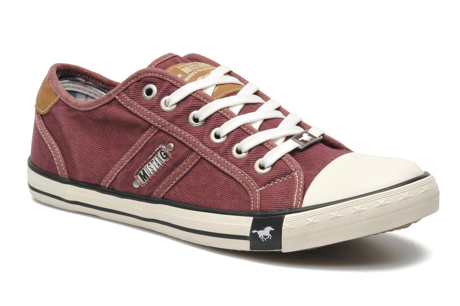 Baskets Mustang shoes Tista Bordeaux vue détail/paire